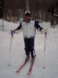スキーは楽し…
