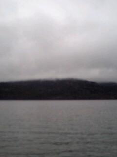雄阿寒岳は雲の中…