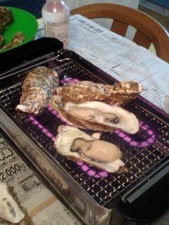 皆既月食と焼き牡蛎…