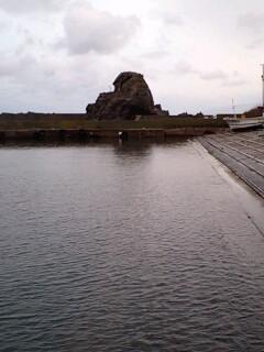 鵜泊漁港…