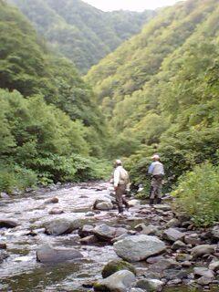 盛夏の山岳渓流