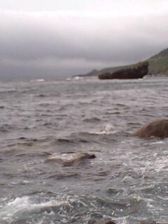 壮絶な海況…