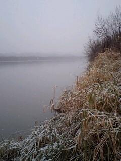 降りしきる雪の中…
