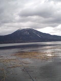 阿寒湖にて…