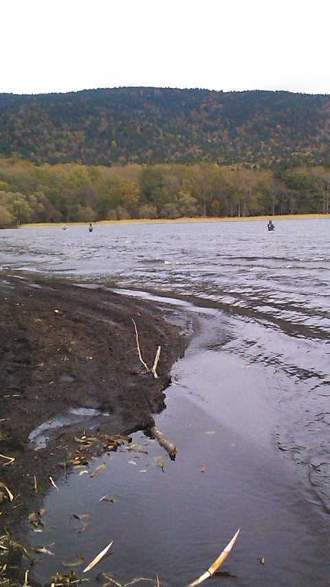 秋の阿寒湖…