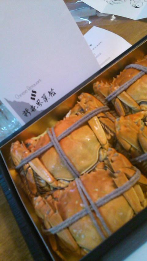 上海蟹を食す…