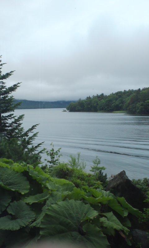 阿寒湖の朝…