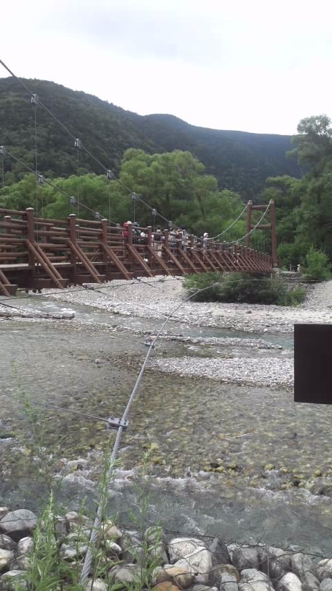 上高地…河童橋から明神池