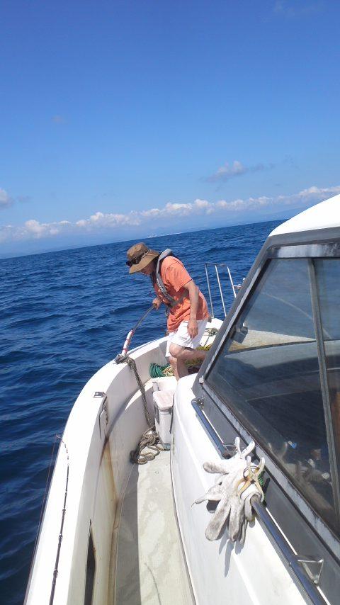 KONCHAN号でイカ釣り…
