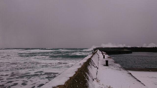 ブリザードの日本海へ・・