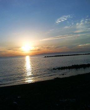 夕日は実に美しい…